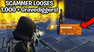 How to Easily Scam 1,000 + Gravediggers! (Scammer Gets Scammed) Fortnite Save The World