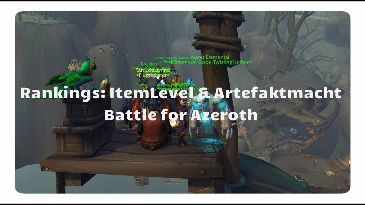 WoW Progress: Ranglisten für Item-Level & Artefaktmacht (Battle for Azeroth)