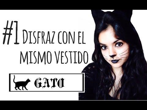 Disfraz f cil con un vestido 1 gato halloween youtube - Disfraces el gato negro ...