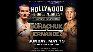 Hollywood Fight Nights May 19, 2019 Fight Night: TOM LOEFFLER'S HOLLYWOOD FIGHT NIGHTS!  BOHACHUK...