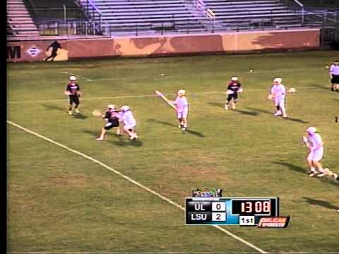 LSU vs. ULL Men's Lacrosse 3/21/15 1st Qtr
