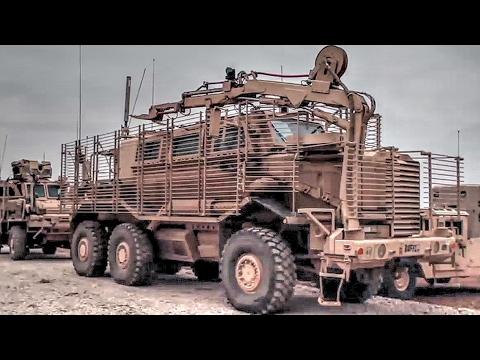 Mine-Resistant Ambush Protected Vehicles On The Move