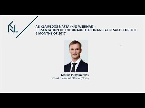 Klaipedos nafta KN financial results for the six months of 2017