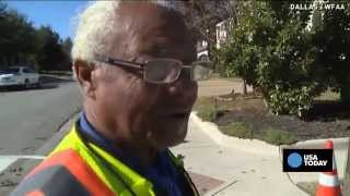 Dads give beloved crossing guard awesome surprise