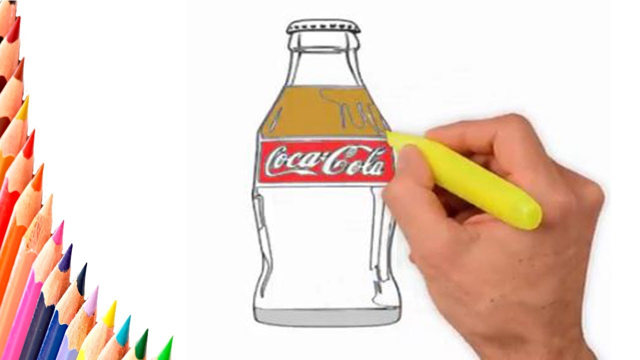 Coloring Pages - HOW TO DRAW COCA COLA BOTTLE - HOW TO DRAW CUTE ...