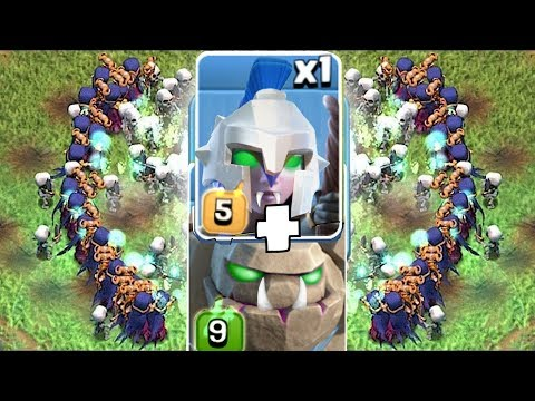 """DARK WITCH + GOLEM COMBO!! """"Clash Of Clans"""" MASS ATTACK!"""