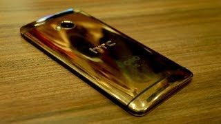 Gold HTC One hands-on