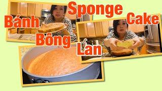 Làm bánh bông Lan đơn giản/Simple sponge cake .