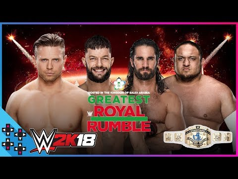 Greatest Royal Rumble: Intercontinental Title Fatal Four-Way Ladder Match - WWE 2K18 Match Sims