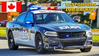 Kirkland | Montréal Police Service (SPVM) Car 97-5 Responds FAST as Backup to Disturbance Call