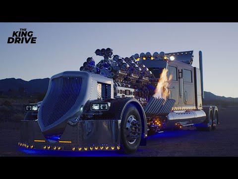 Самый мощный и дорогой тягач в мире C 28-литровым мотором!!!