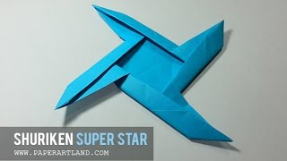 Origami for Kids: How to make a COOL Paper Shuriken | Super Star