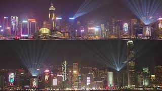 A Symphony of Lights ( winter edition 2018) Hong Kong Island With Pyrotechnical effects 20181222