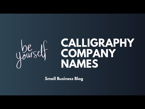 Best Calligraphy Business Names