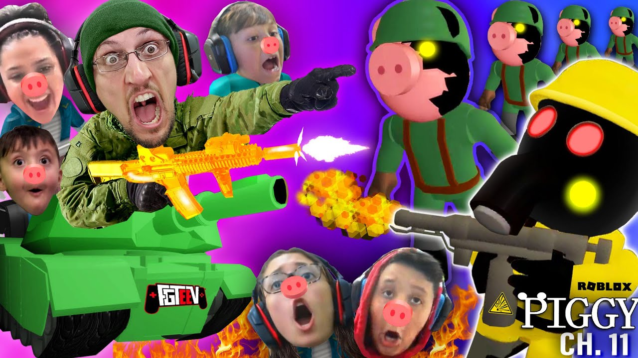 Roblox Piggy Army Vs Fgteev Family Chapter 11 Outpost Escape 6