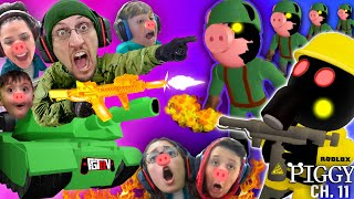 ROBLOX PIGGY ARMY vs FGTeeV Family!  CHAPTER 11 Outpost Escape  (6 Player Madness)