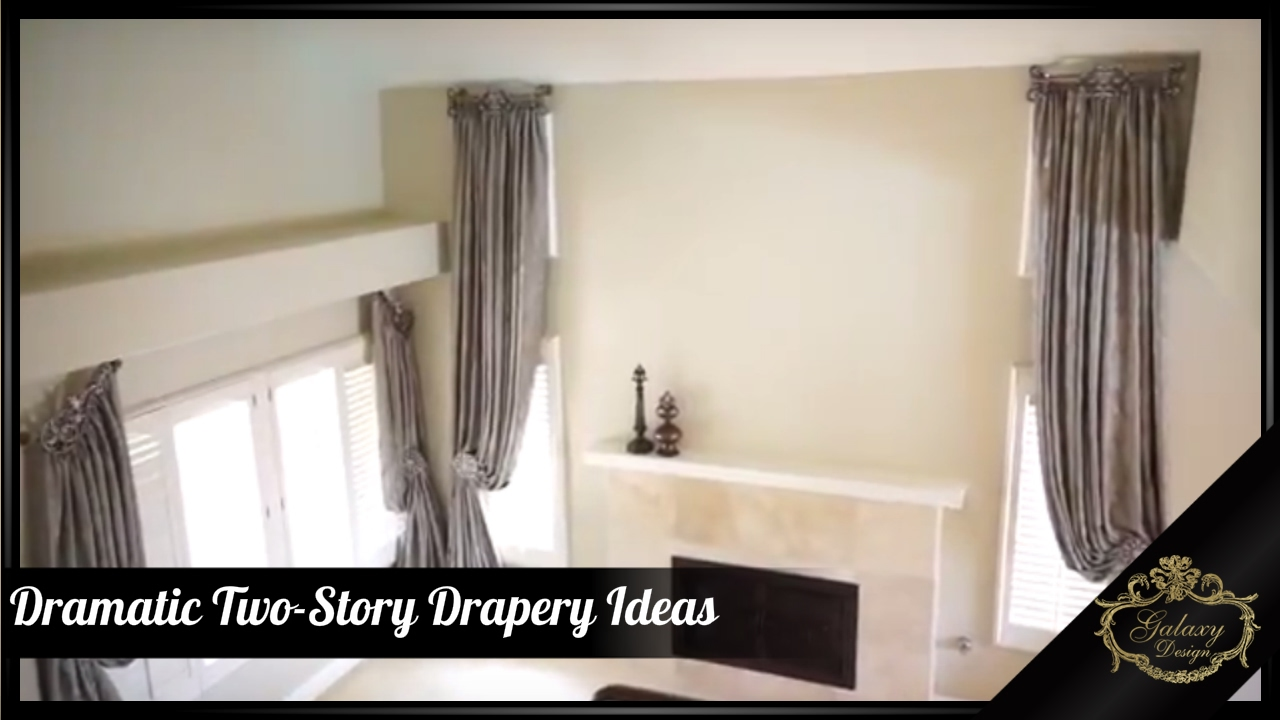 add length to a room with dramatic two story drapery ideas galaxy design video 151