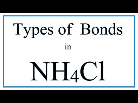 NH4Cl Bond Types (Ionic, Covalent, and Coordinate Covalent) - YouTubeYouTube