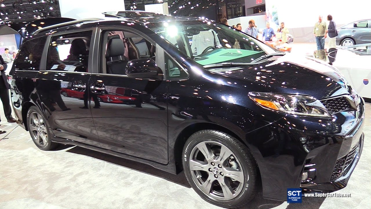 2018 Toyota Sienna Se Exterior And Interior Walkaround Debut At 2017 New York Auto Show