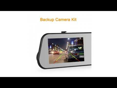 AUTO-VOX M6 Dash Cam Backup Camera Kit HD Mirror Cam With Motion Detection, IP 68 Water...