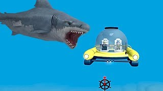 NOUVEAU SUBMARINE AGAINST SHARKS l ROBLOX (SHARK BITE)
