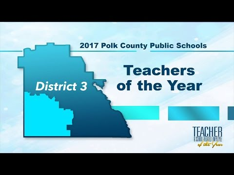 2017 Teachers of the Year - District 3