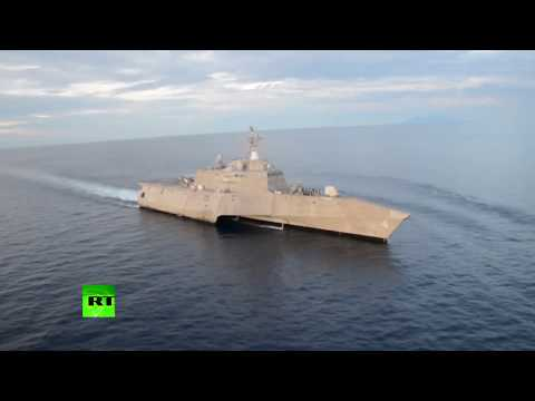 RAW: USS Coronado takes part in joint drills with Philippine Navy