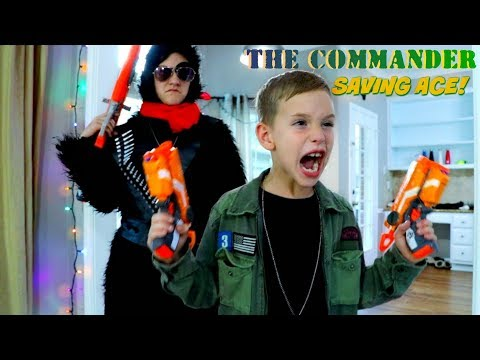THE COMMANDER 4: Saving Ace! SHK Nerf Action Movie