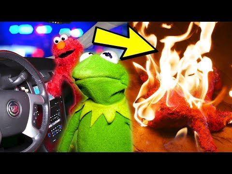 Kermit The Frog and Elmo STEAL a Cadillac Escalade! (GONE WRONG)
