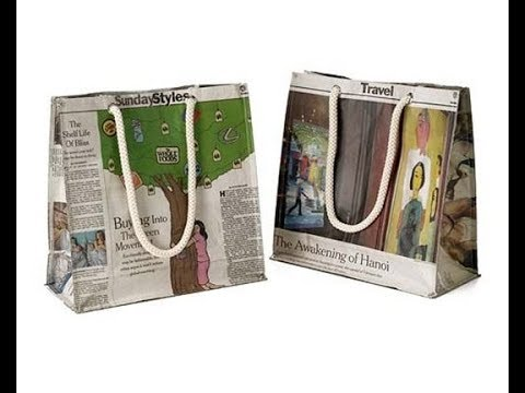 How to Make a Paper Bag with Newspaper – Paper Bag Making Tutorial Very Easy