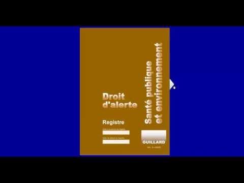 Registre DROIT D'ALERTE SANTE PUBLIQUE ET ENVIRONNEMENT - Guillard-Publications
