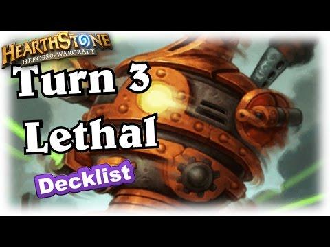 "Turn 3 Lethal ~ Hearthstone Heroes of Warcraft Blackrock Mountain no ""Comeback"" Decklist"