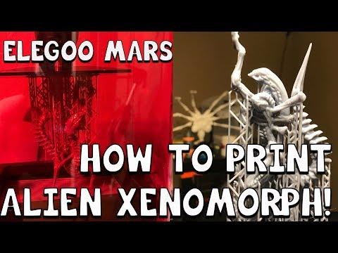 How to Print the Alien Xenomorph with Chitubox on the Elegoo Mars!