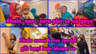 And they are back | meeting the new baby | Khala's special gift for Ammi | ibrahim family