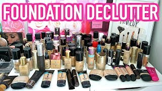 BEAUTY ROOM DECLUTTER | MY FOUNDATION COLLECTION 2018
