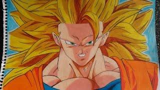 Como dibujar a Goku SSJ3 con figuras geométricas / how to draw Goku SSJ3