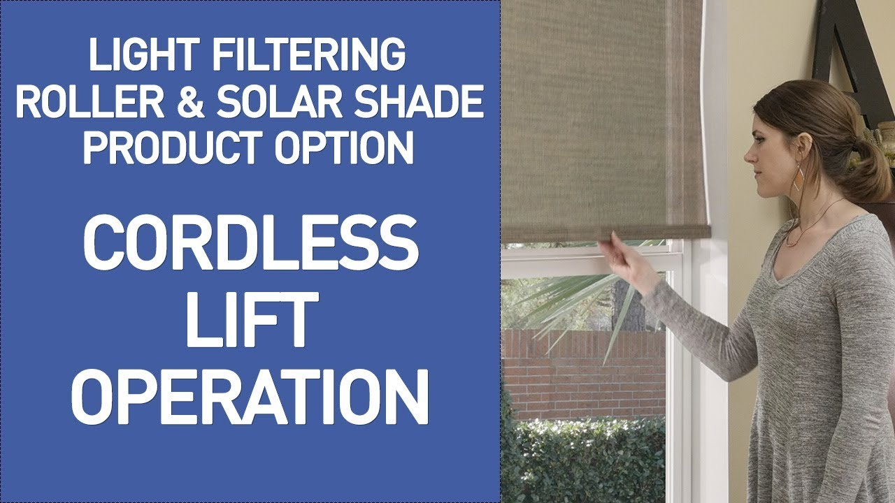 how do cordless blinds work cordless roller and solar shades demo youtube. Black Bedroom Furniture Sets. Home Design Ideas