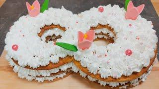 Торт на 8 марта торт Цифра 8