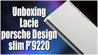 Lacie Porsche Design P'9220 2TB slim Unboxing