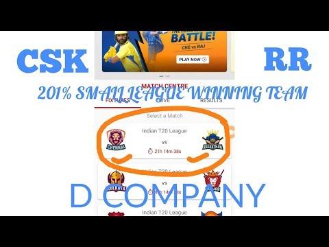 CSK VS RR DREAM11 IPL 17TH MATCH(20 APRIL 2018)