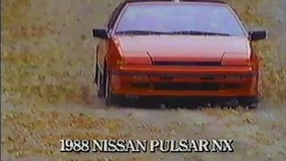 """Nissan Pulsar NX Car Commercial """"More Powerful Than Ever"""" English 1988"""