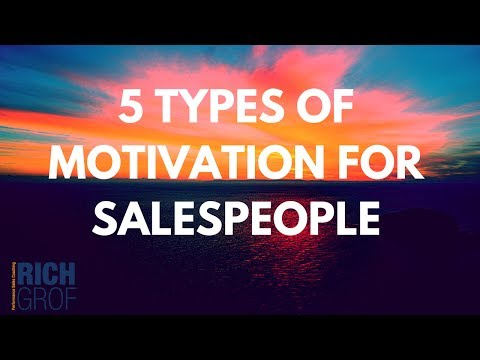 5 Types of Motivation for Salespeople - Leadership Techniques for Sales Managers