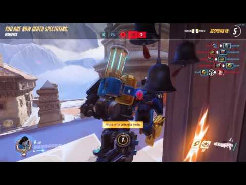Overwatch - Level 500+ bastion player throws every game, neat