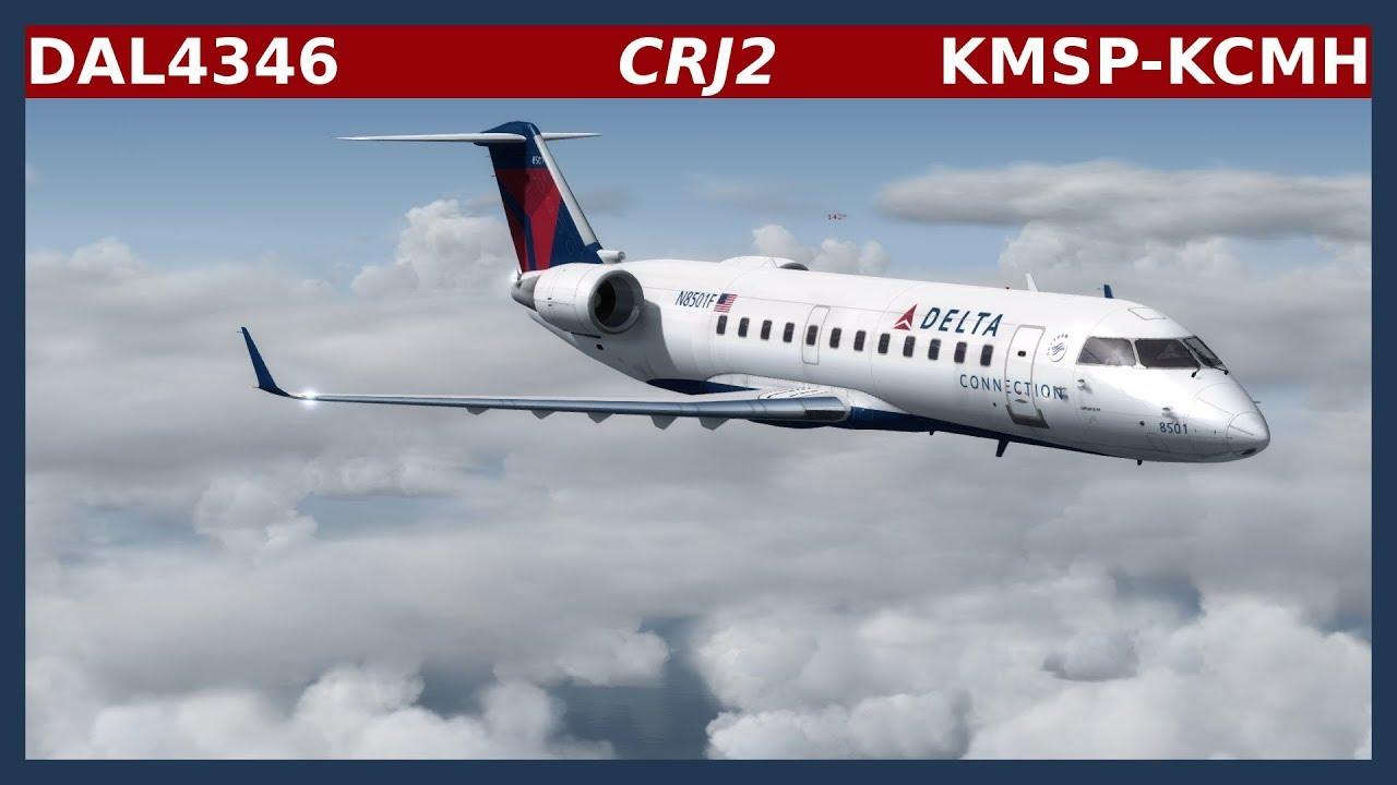 DAL4346 - CRJ-200: KMSP-KCMH
