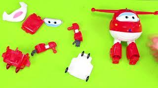 فتح لعبة الطيارة المتحولة جيت من سوبر وينجز Unboxing Super Wings Toys
