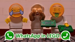 If WhatsApp Emojis would exist in real life | Lego Animation