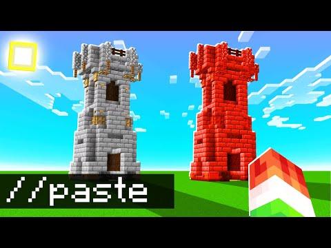 I CHEATED Using AUTO BUILD HACKS In Minecraft!