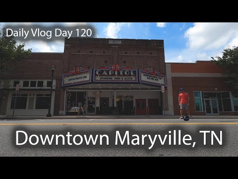 Welcome To Downtown Maryville - Quick Tour Of Broadway In Maryville, Tennessee || Daily Vlog Day 120