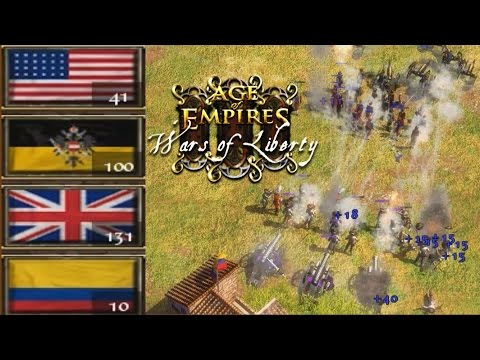 Americans, Habsburgs vs British, Colombians Age of Empires 3 Wars of Liberty ES Online multiplayer