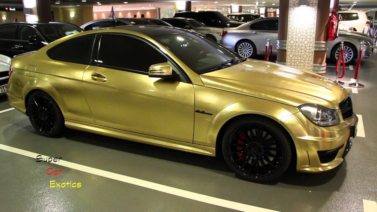 Golden Brushed C63 Amg Mercedes Benz Coupe Youtube